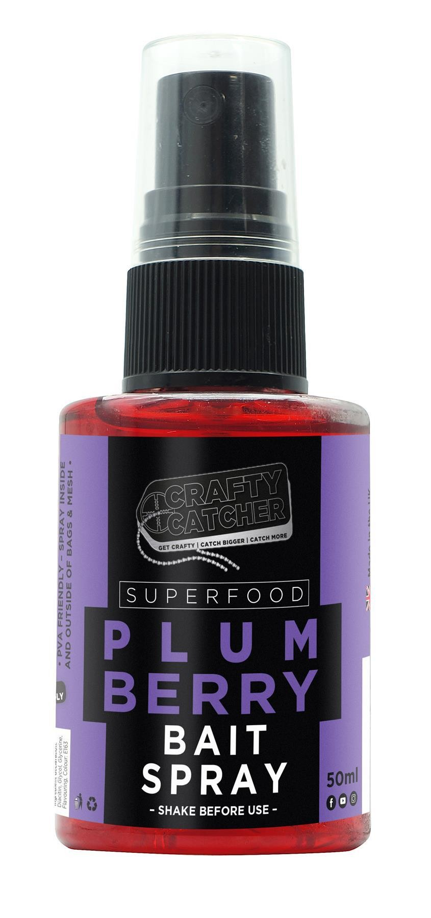 Crafty Catcher Superfood Plum Berry Bait Spray 50ml Carp Fishing Bait