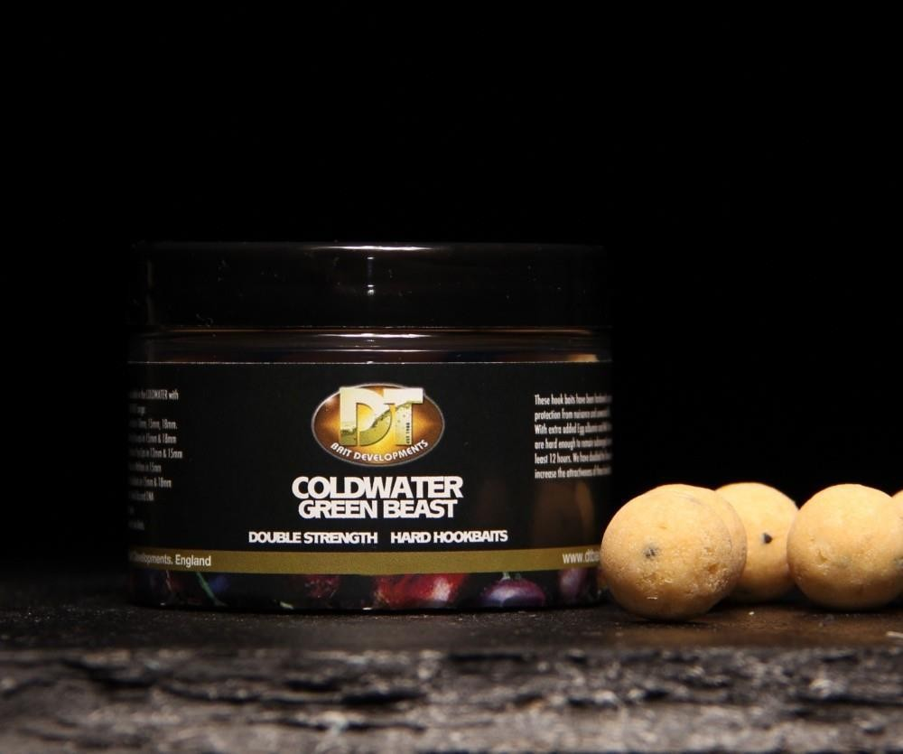 DT Baits Cold Water Green Beast Hard Hook Baits Boilies 15mm 60g