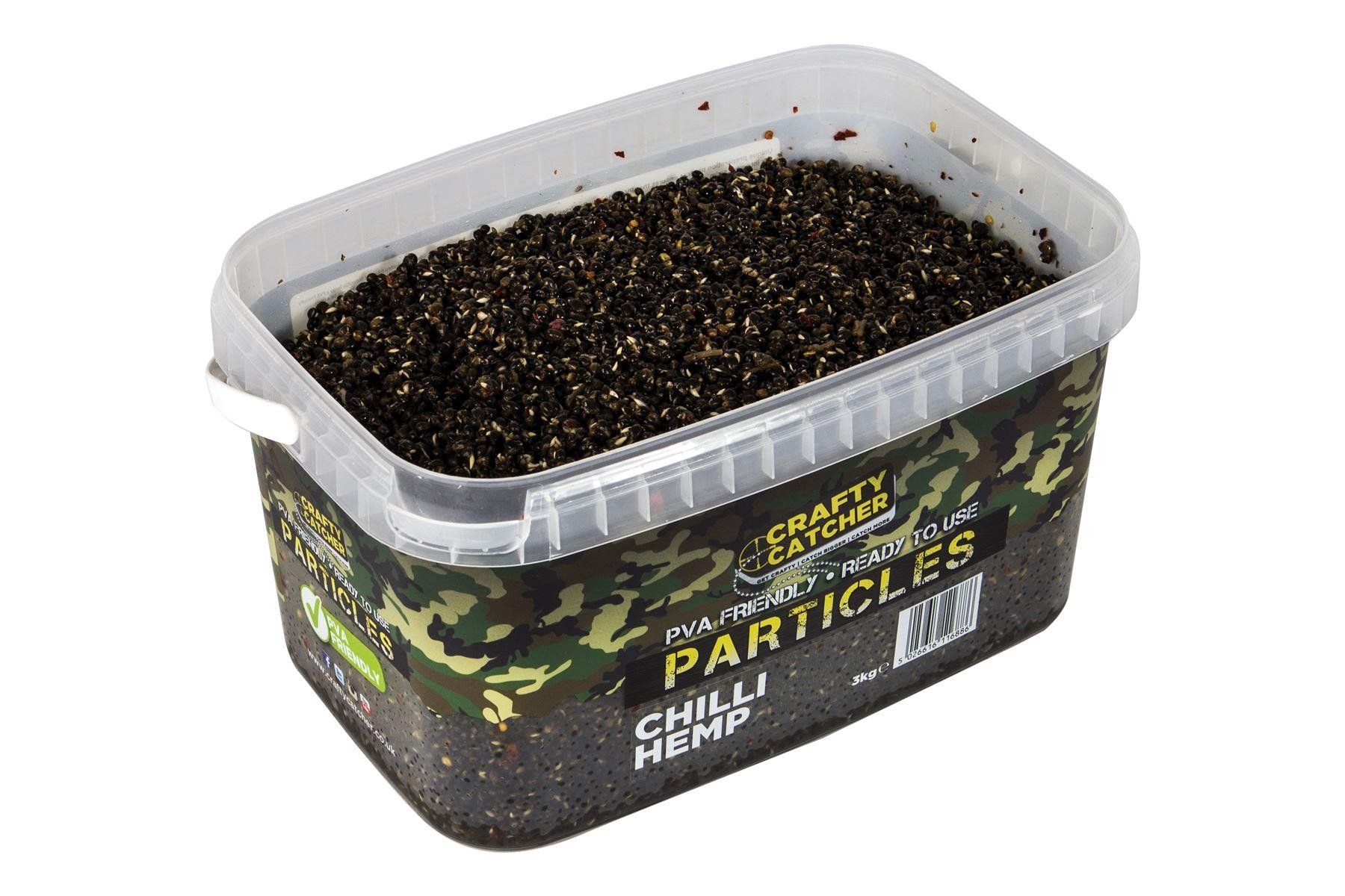 Crafty Catcher Chilli Hemp Prepared Particles 3Kg  Ready To Use