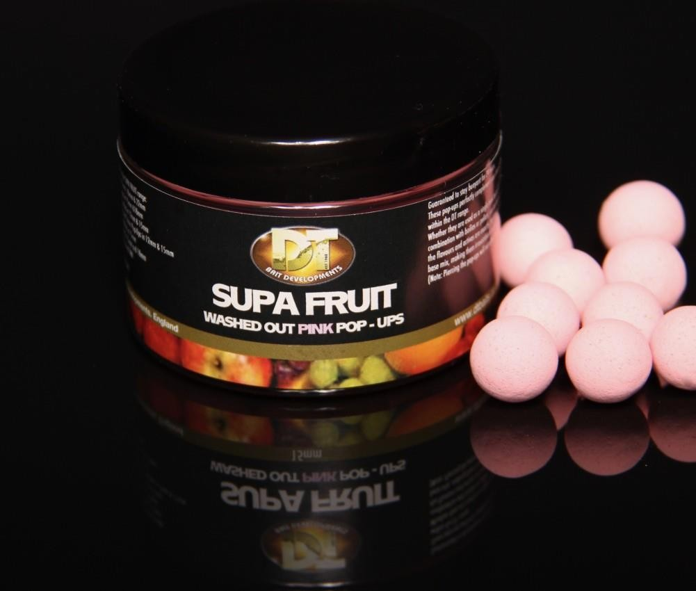DT Baits Supa Fruit Washed Out Pink Pop Ups 12mm 60g