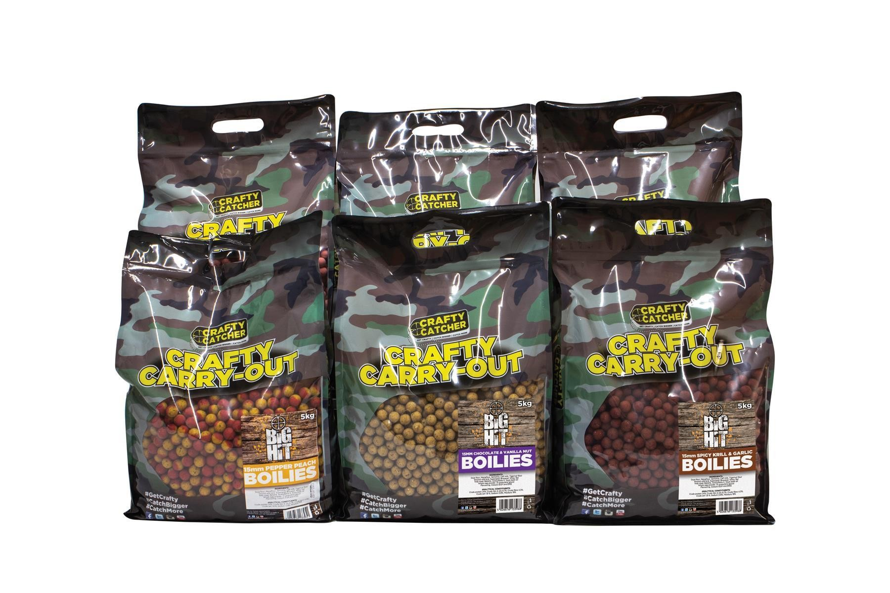 Crafty Catcher Big Hit Chocolate & Vanilla Nut 15mm Boilies 5Kg Carry Out