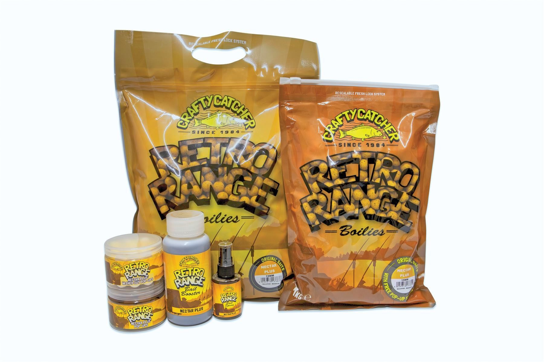 Crafty Catcher Retro Range Nectar Plus Bundle Boilies & Liquids 1kg