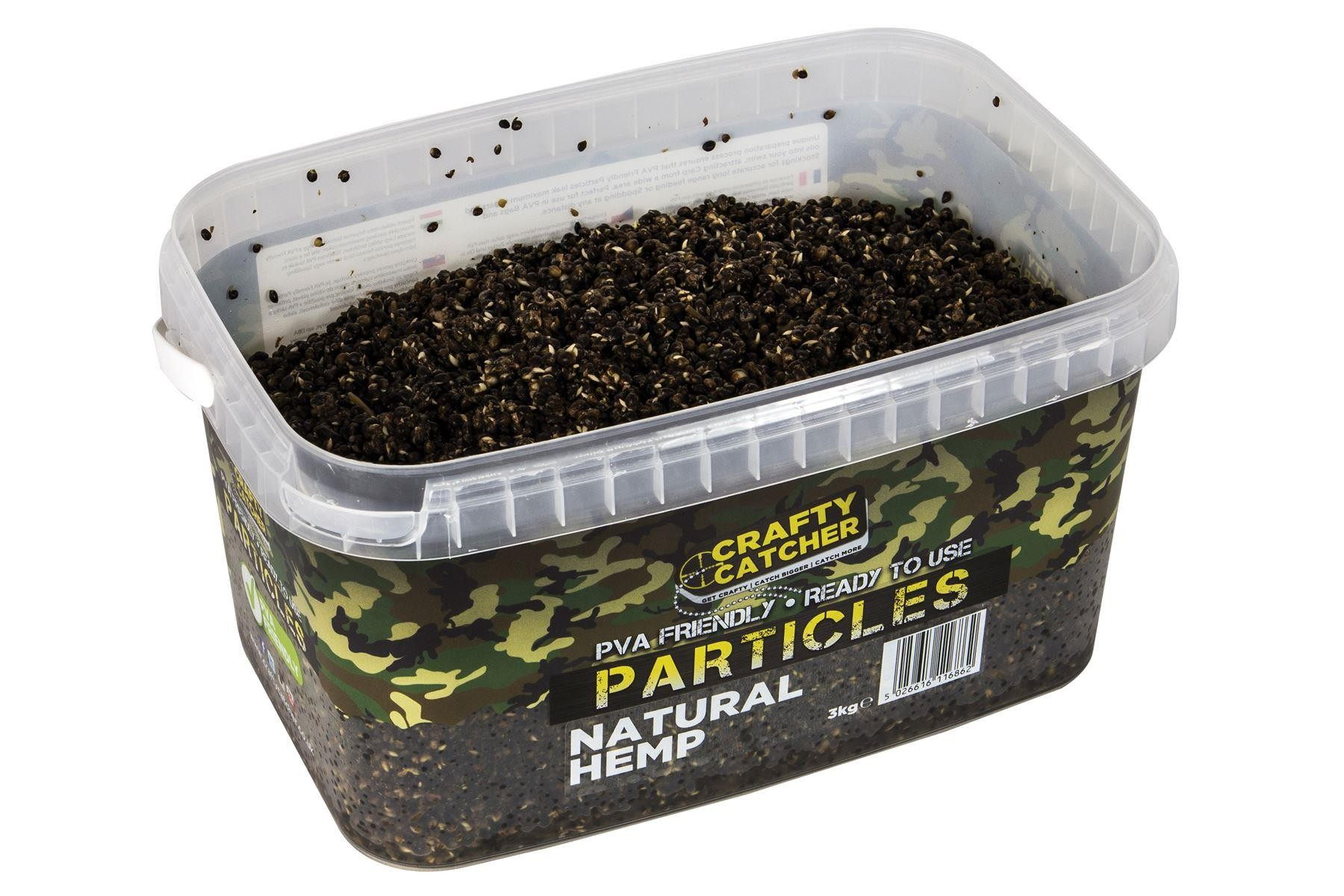 Crafty Catcher Natural Hemp Prepared Particles 3Kg  Ready To Use