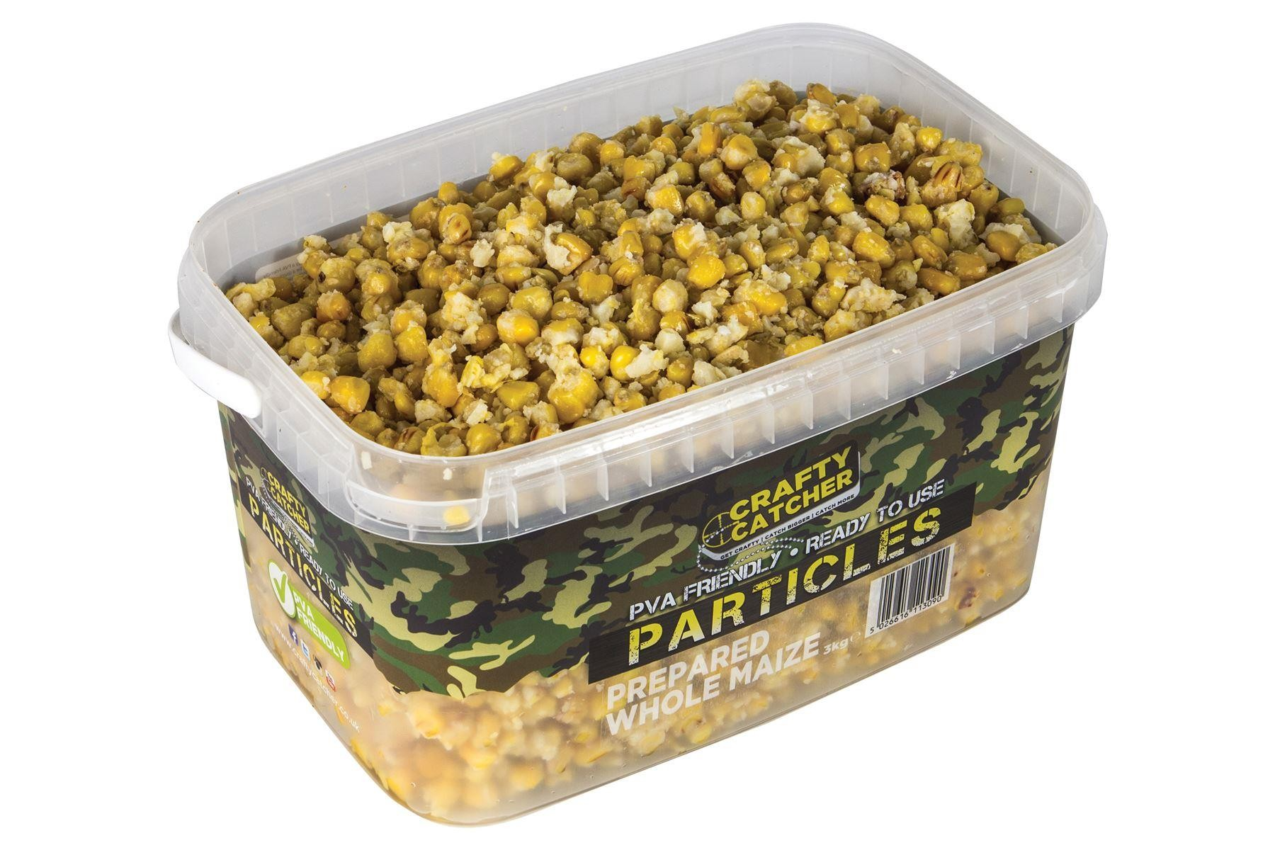 Crafty Catcher Prepared Whole Maize Prepared Particles 3Kg  Ready To Use