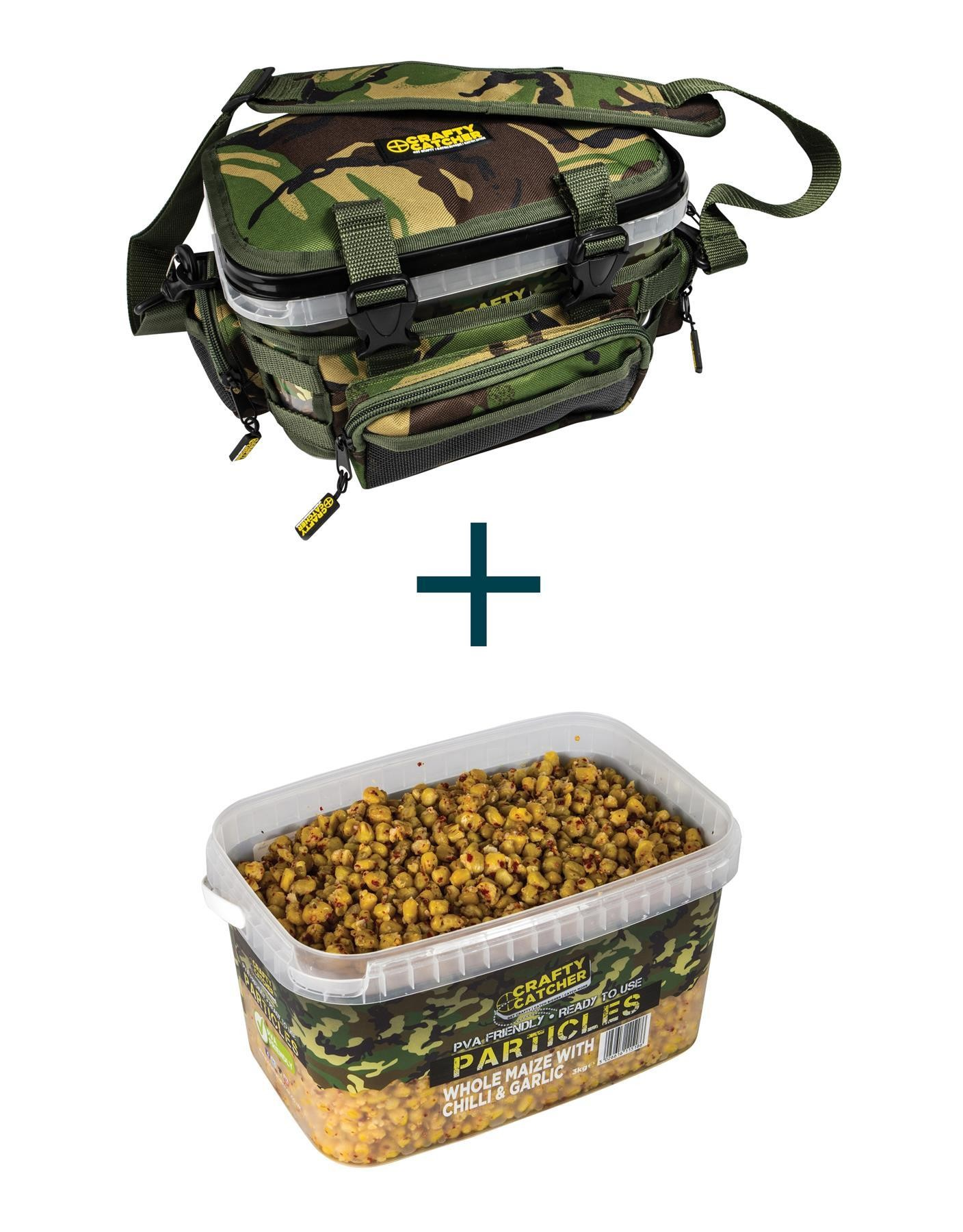 Crafty Catcher DPM Bucket Bag + Whole Maize with Chilli Particle Bucket 3kg