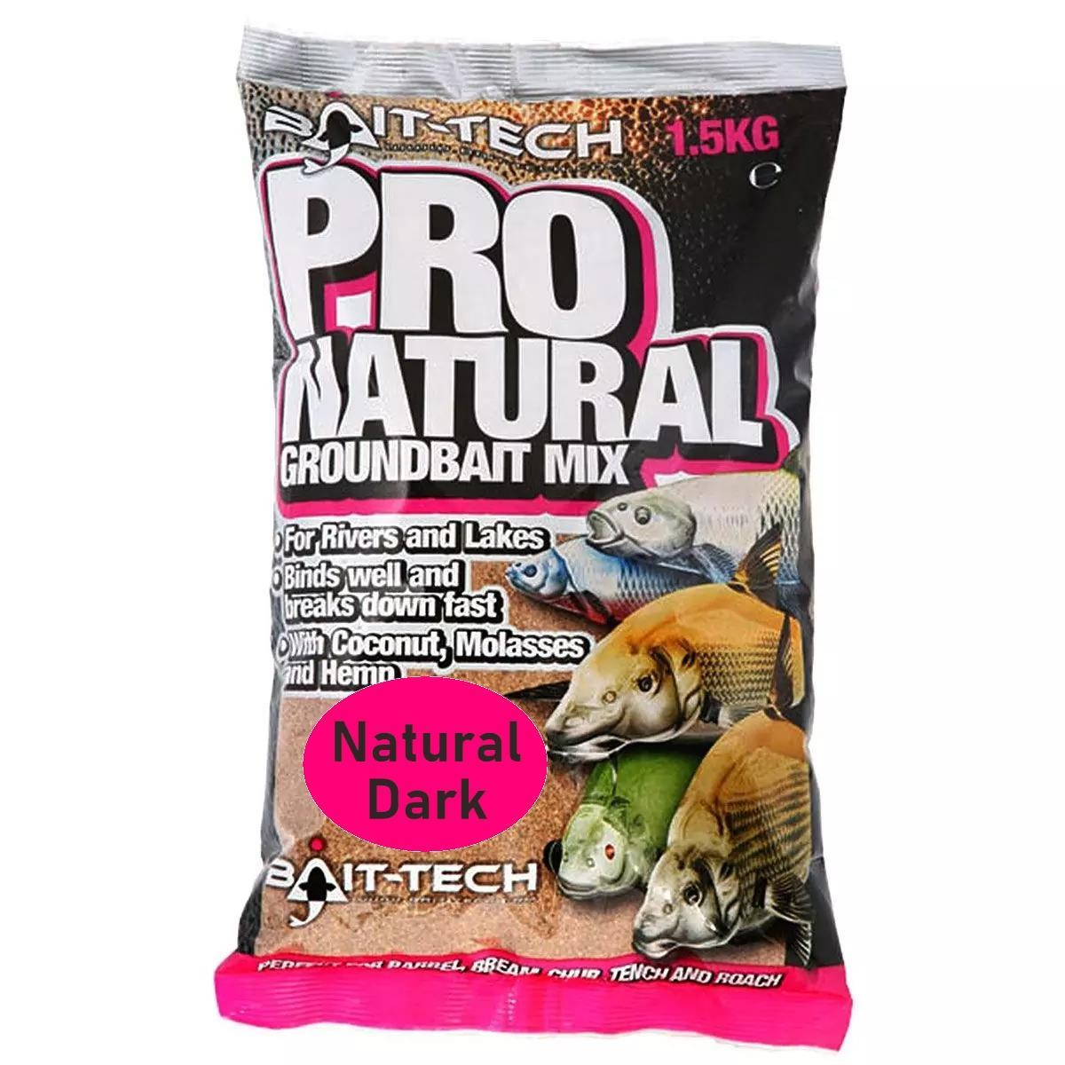 Bait-Tech Pro Natural Groundbait 1.5kg - Natural Dark