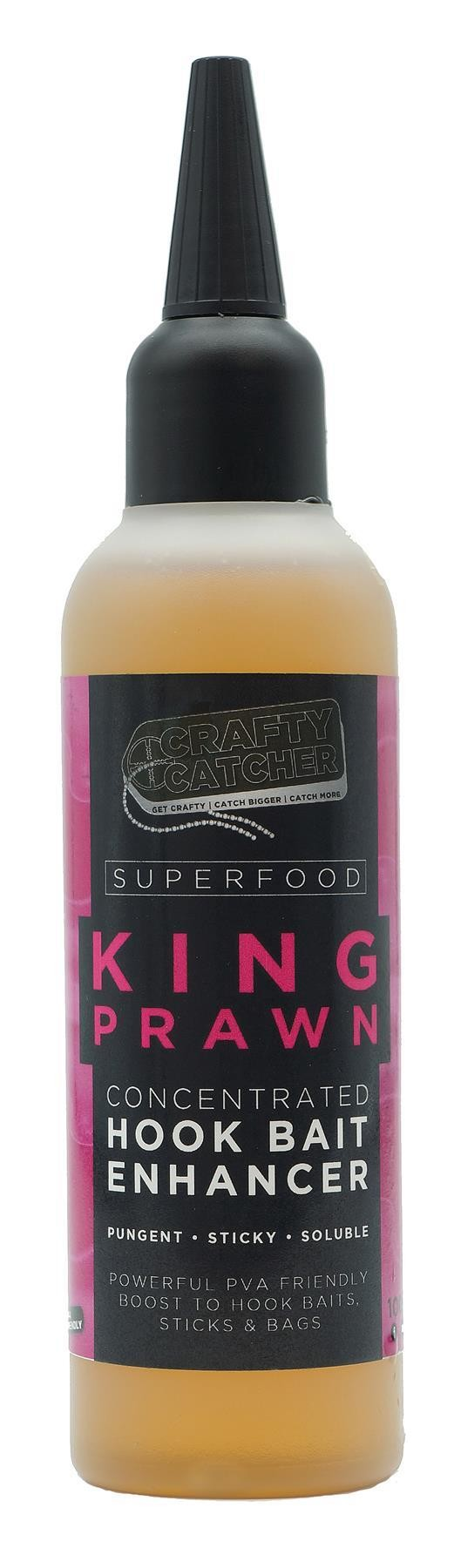 Crafty Catcher Superfood King Prawn Concentrated Hookbait Enhancer 100ml Carp Fishing Bait