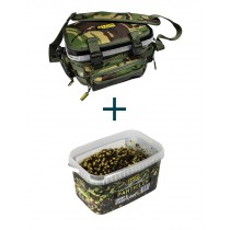 Crafty Catcher DPM Bucket Bag + Hemp & Sweetcorn Particle Bucket 3kg