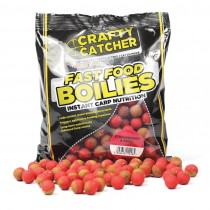 Crafty Catcher Fast Food Strawberry & Krill 15mm Boilies 500g