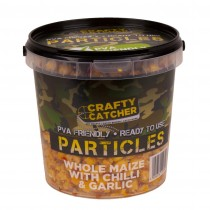 Crafty Catcher Whole Maize with Chilli & Garlic Prepared Particles 1.1Ltr  Ready To Use